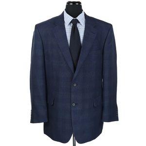 New Jos A Bank Linen Wool Blend Sport Coat Plaid